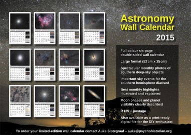 2015 Astronomy Observers wall calendar & Sky Guide